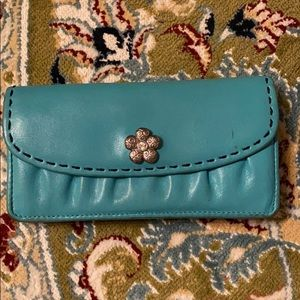 Brighton teal leather wallet